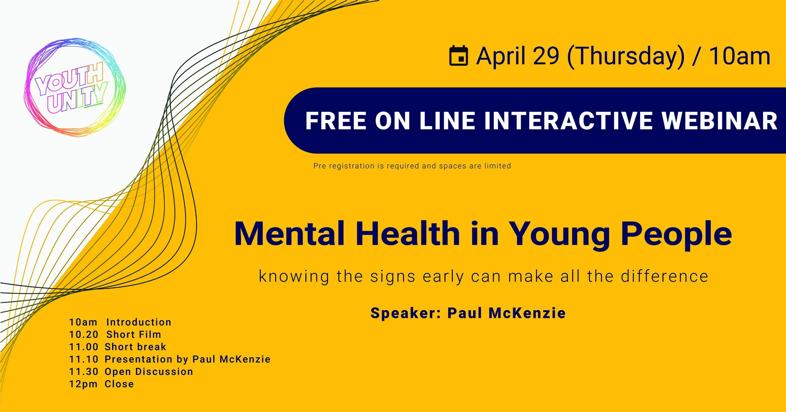 Youth Unity Mental Health Webinar